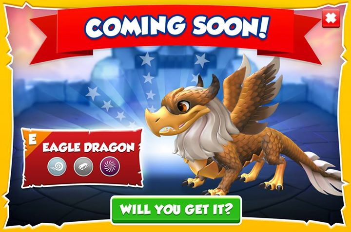 The Eagle dragon is coming soon. It's an Epic dragon with the Wind