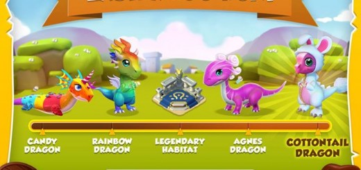 Get Candy, Rainbow, Agnes, and Cottontail dragons in the Easter Egg Hunt