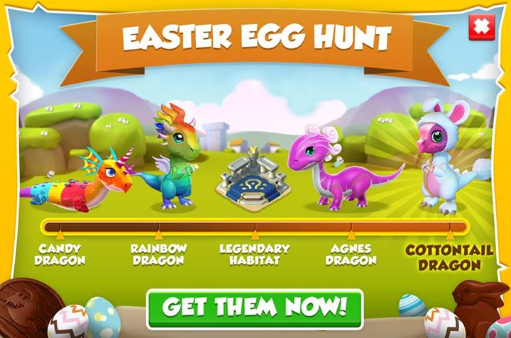Get Candy, Rainbow, Agnes, and Cottontail dragons in the Easter Egg