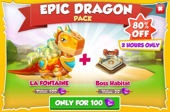 La Fontaine dragon on sale for 2 hours only!