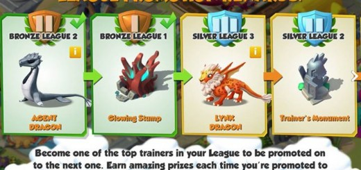 Get Agent and Lynx dragons as well as a Glowing Stump and Trainer's Monument from the League Promotion Rewards