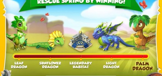 Get Leaf, Sunflower, Light, and Palm dragons in the Viking Spring event