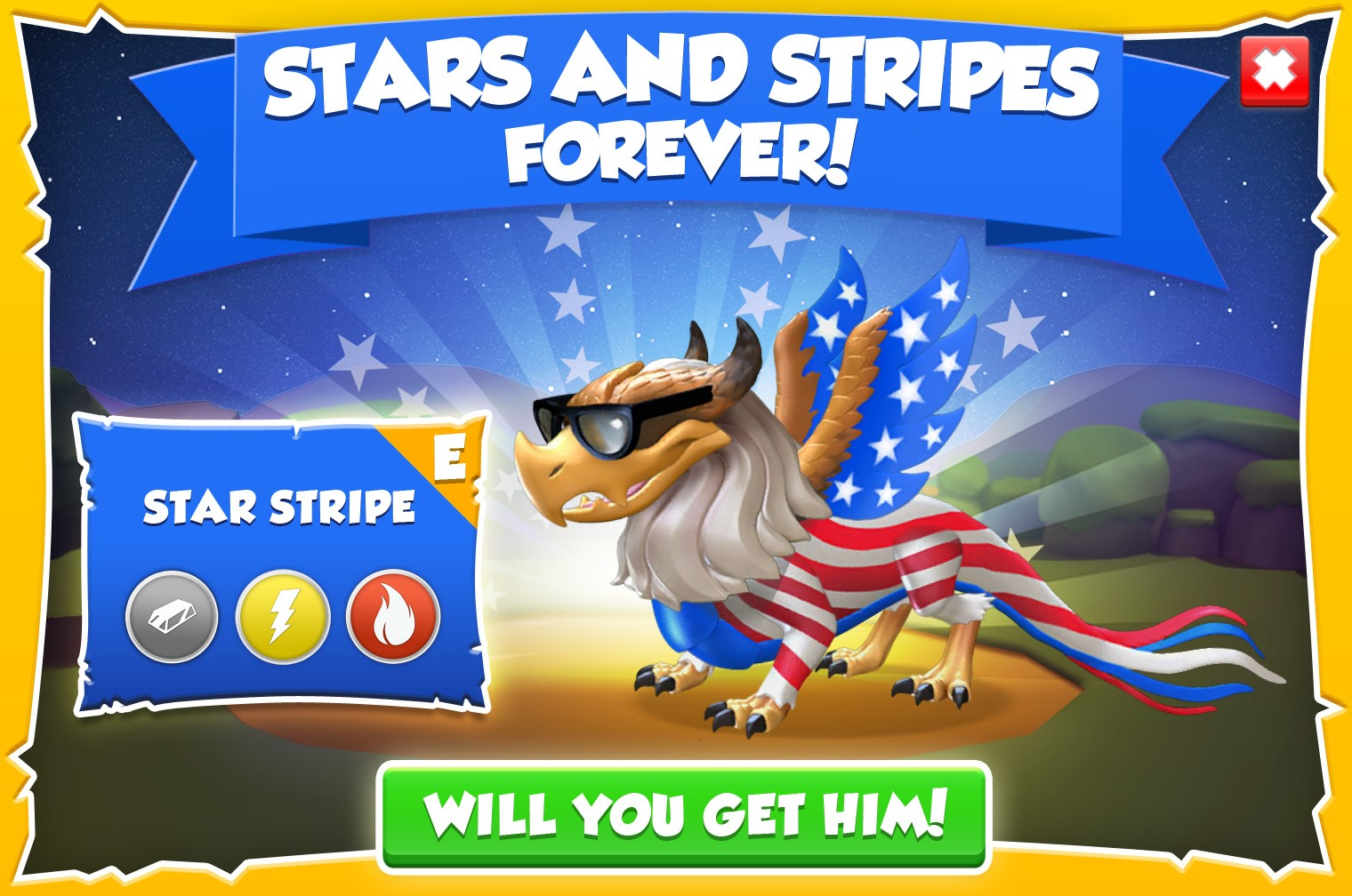 Stars and stripes forever july 4 2015 dragon mania legends