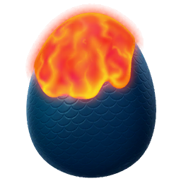 Liquid Fire Dragon Egg